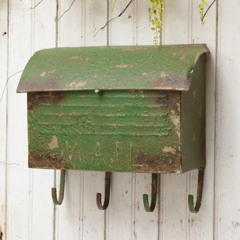 Mailbox - Vintage Green 4 Hooks
