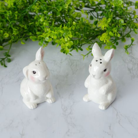 Salt And Pepper Shakers - Bunnies (Pk  2 Pr)