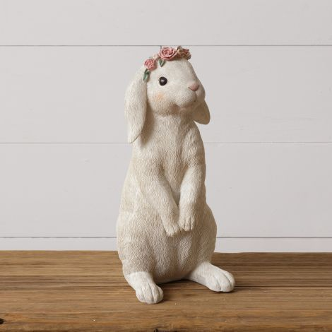 Standing Rabbit with Flower Crown
