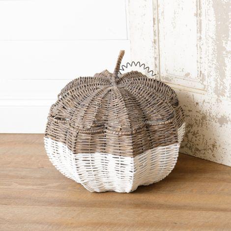 Pumpkin Shaped Basket