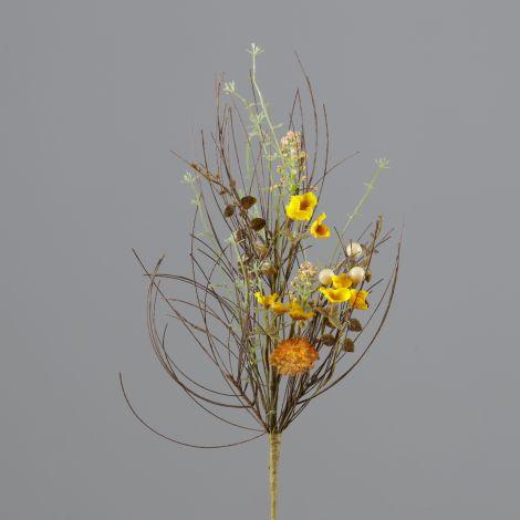 Branch - Thistle, Gold Mini Flowers, Fall Foliage (Pk 2)