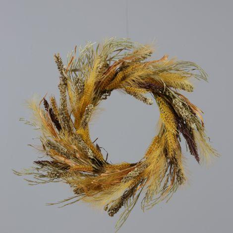Wreath - Wheat, Fall Grasses
