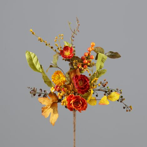 Branch - Mini Fall Poppies, Fall Foliage (Pk 2)