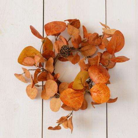 Candle Ring - Orange Eucalyptus And Mini Pinecones (Pk 2)