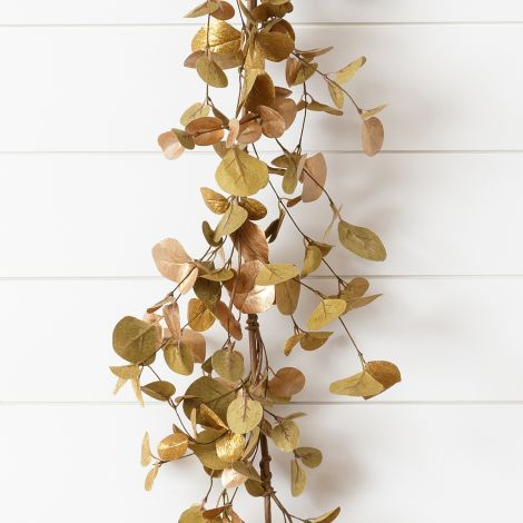 Garland - Shimmer Gold With Copper Accents Eucalyptus