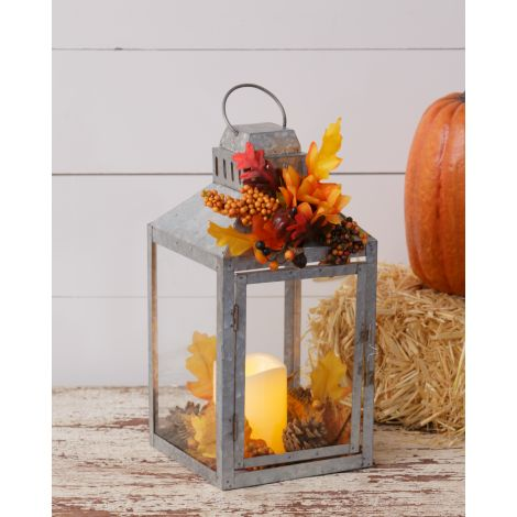 Lantern - Fall Harvest, LED Candle