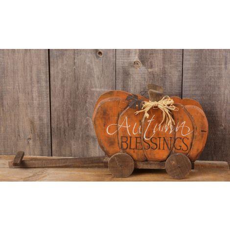 Pumpkin Wagon - Autumn Blessings
