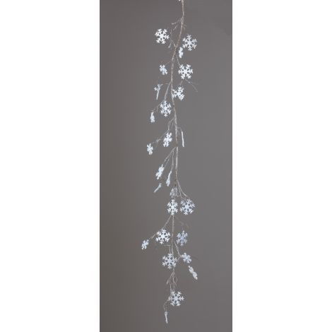 Garland - Frosted Twigs and Snowflakes