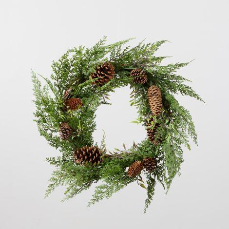 Wreath - Grapevine, Cedar, Ruscus, Cones