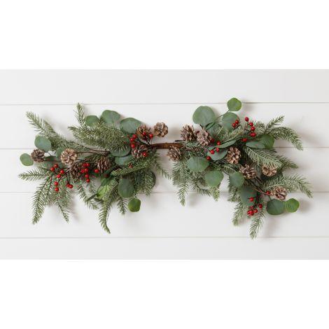 Swag -Pine, Eucalyptus, Berries, And Cones