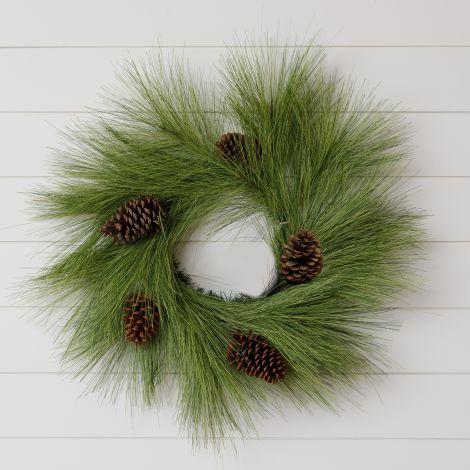 Wreath - White Pine And Pinecones