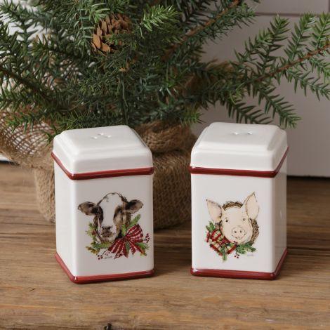 Farmhouse Christmas - Salt and Pepper Shaker