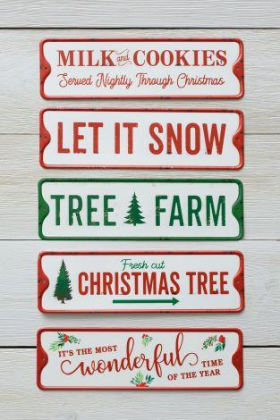 Metal Signs - Christmas Sayings
