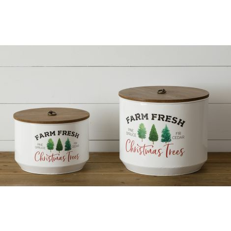 Farm Fresh Christmas Trees Lidded Containers
