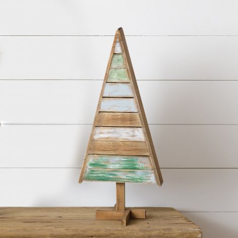 Standing Wooden Slat Tree, Medium