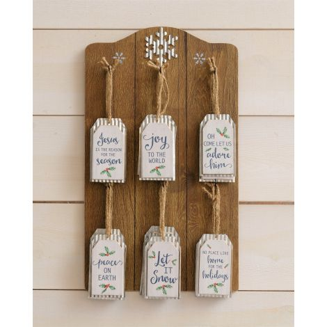 Ornament Display With corrugated Metal Tag Ornaments (Pk 24)