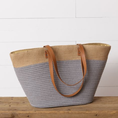 Rope Tote Bag, Gray