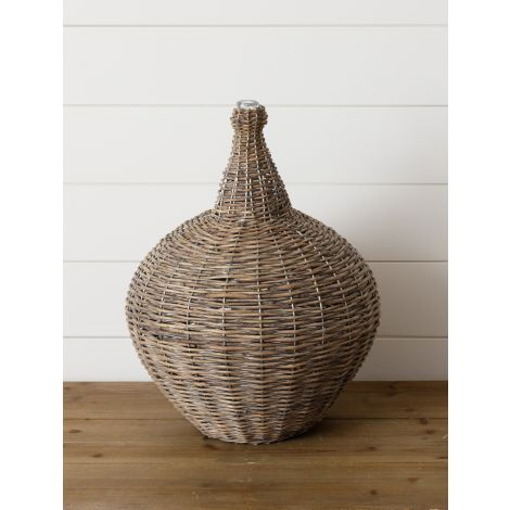 Willow Demijohn With Glass Top