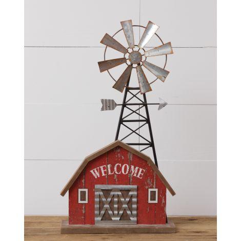 Table Decor - Welcome, Barn, Windmill