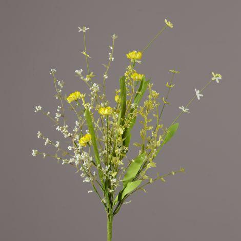 Branch - Yellow Straw Flowers, Assorted Foliage (Pk 2)
