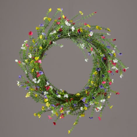 Wreath - Twig, Assorted Color Tiny Flowers