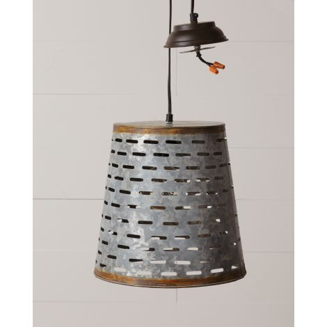 Pendant Light - Olive Bucket