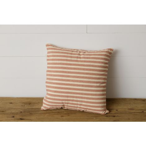 Pillow - Red and White Striped