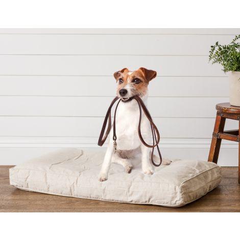 Ticking Stripe Dog Bed