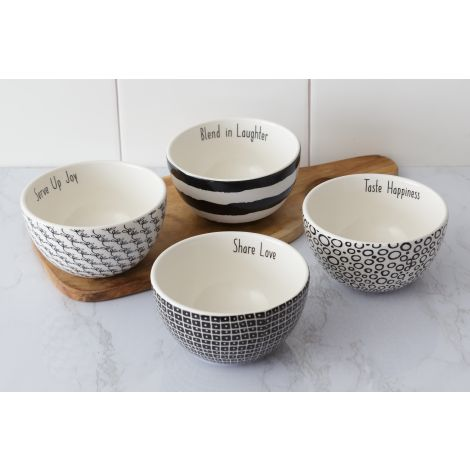 Bowls - Words, Black and White