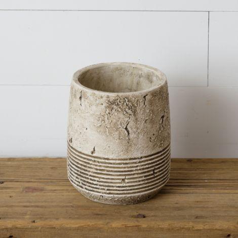Planter - Antiqued Cement, Large