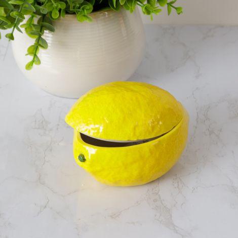 Decorative Lemon Dish With Lid (Pk 2)