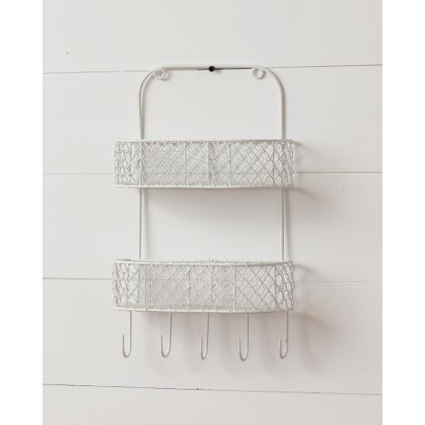 Metal Wall Basket - 2 Tiered