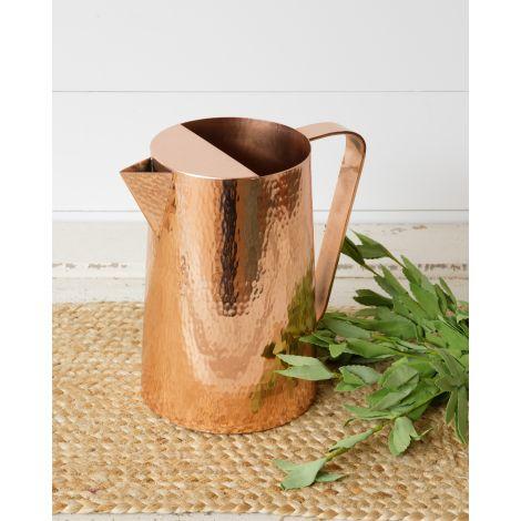 Pitcher - Hammered Copper
