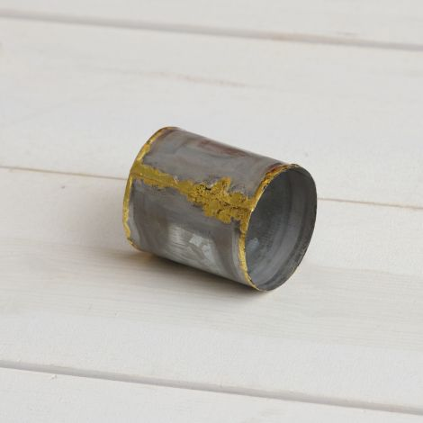 Galvanized Napkin Ring With Gold Welding (Pk 6)