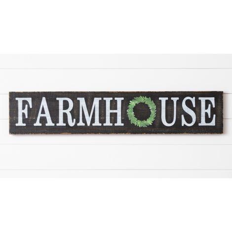 Sign - Farmhouse With Wreath