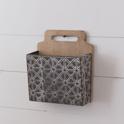 Wall Pocket - Embossed and Distressed