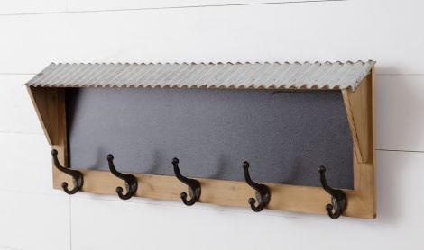 Wall Hanging - Chalkboard With Hooks