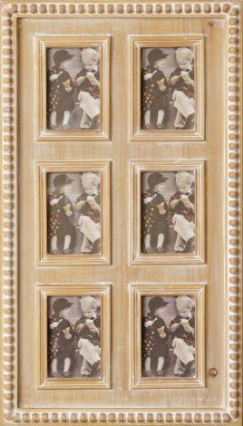 Beaded Six Frame Wall Hanging